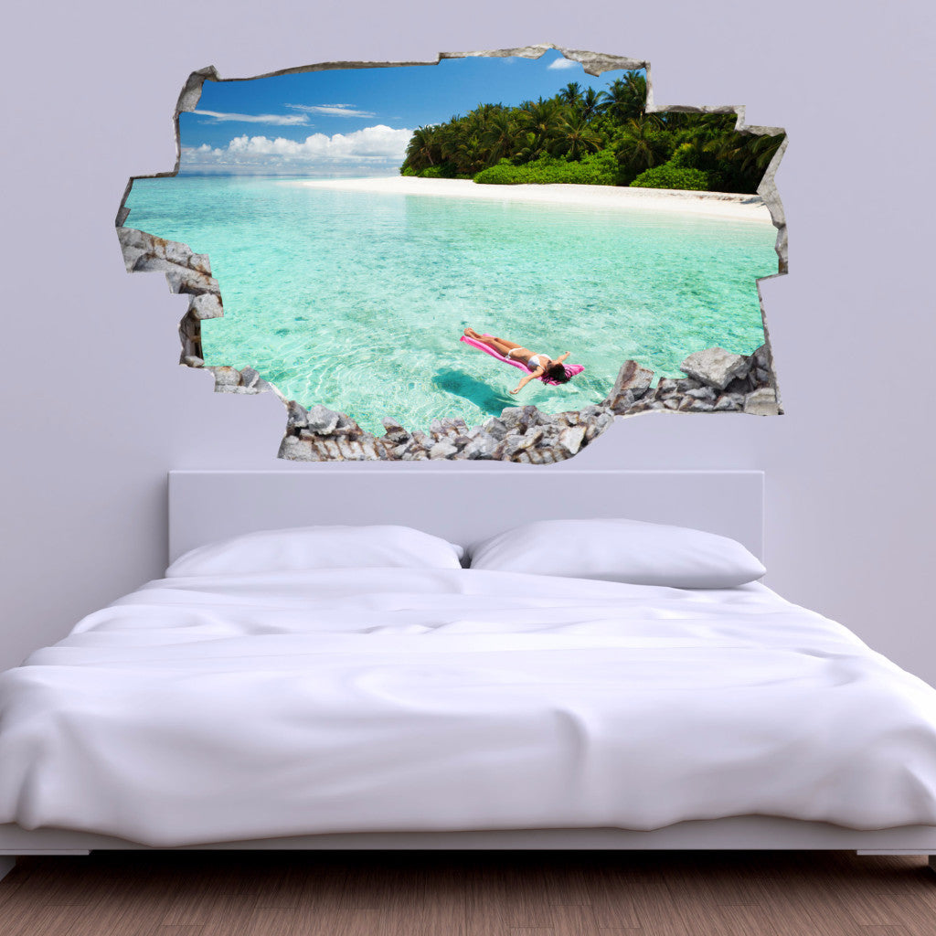Beach Wall Decals | Beach Wall Stickers | Vinyl 3d | CAB.116