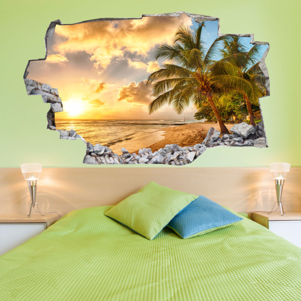Beach Wall Decals | Beach Wall Stickers | Vinyl 3d | CAB.118