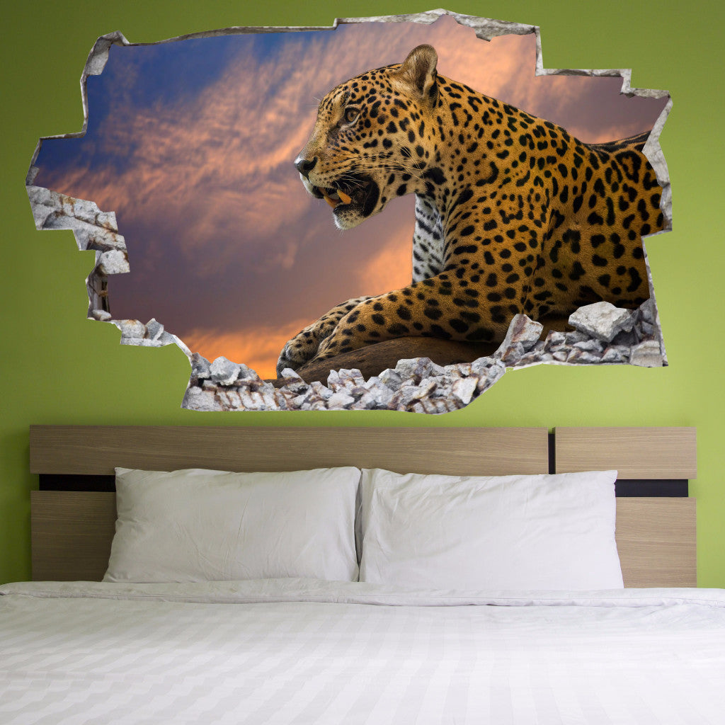 Leopard Wall Decals | Leopard Wall Stickers | Vinyl 3d