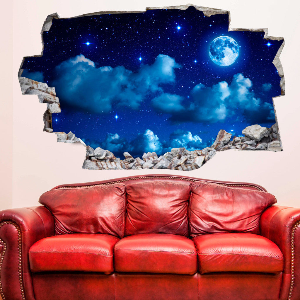 Moon Wall Decals | Wall Stickers | Vinyl 3d | CAB.138