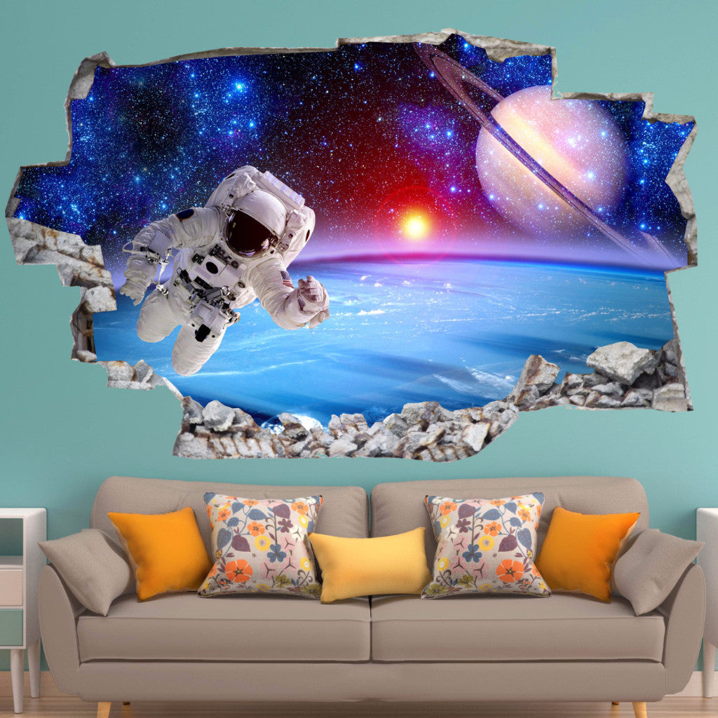 Astronaut Decals | Wall Stickers | Vinyl 3d | CAB.153