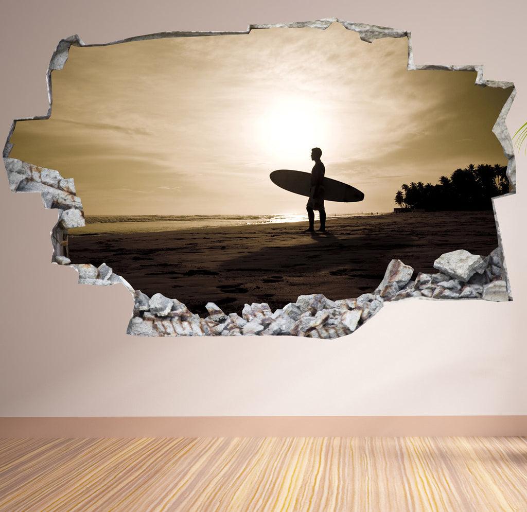 Surf Wall Stickers | 3D Wall Decals | CAB.168