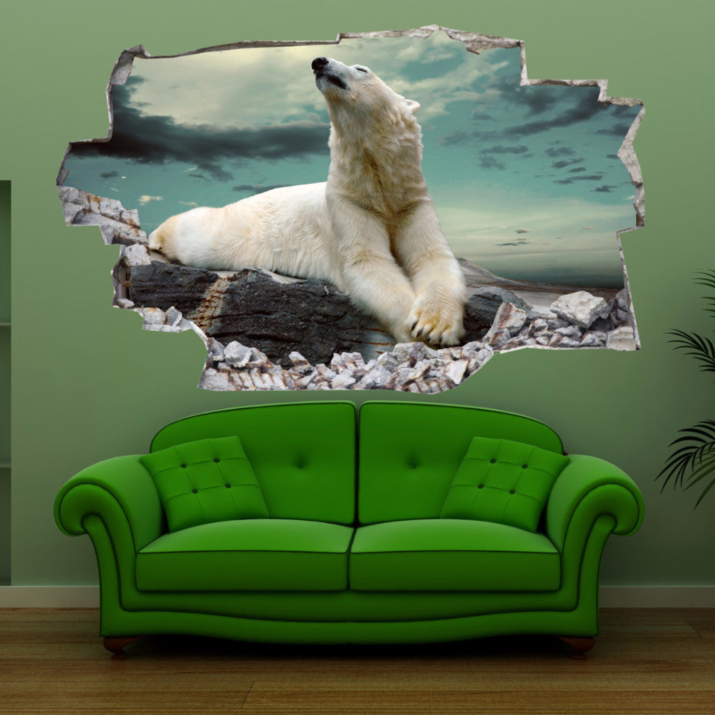 Polar Bear Wall Stickers | 3D Wall Decals | CAB.169