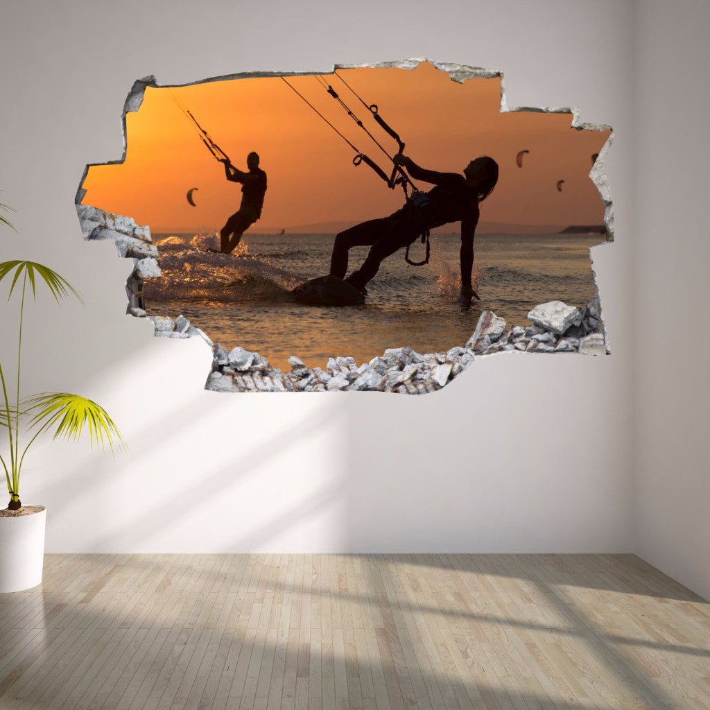Kitesurf Wall Stickers | 3D Wall Decals | CAB.174