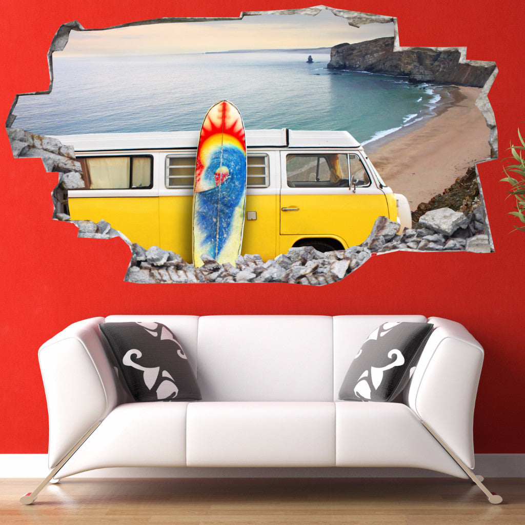 Van Wall Stickers | 3D Wall Decals | CAB.175