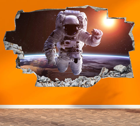Astronaut Wall Stickers | 3D Wall Decals | CAB.177