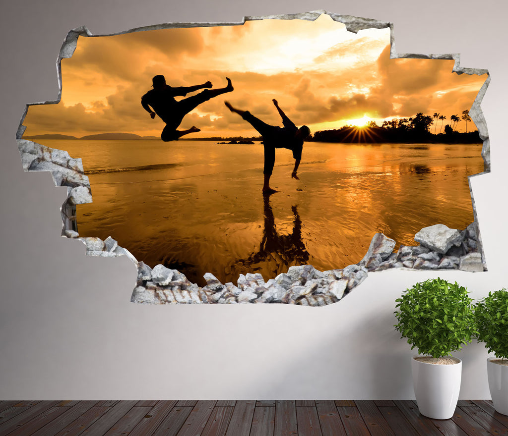 Martial Arts Wall Stickers | 3D Wall Decals | CAB.178