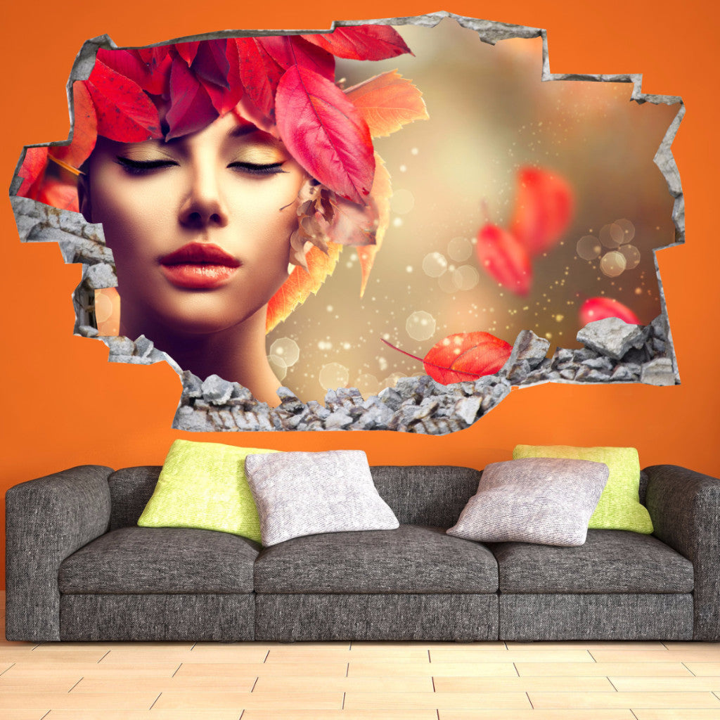 Woman Wall Stickers | 3D Wall Decals | CAB.180