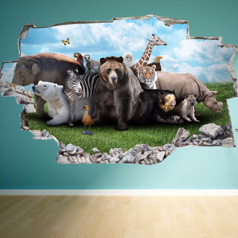 Animals Wall Stickers | 3D Wall Decals | CAB.181