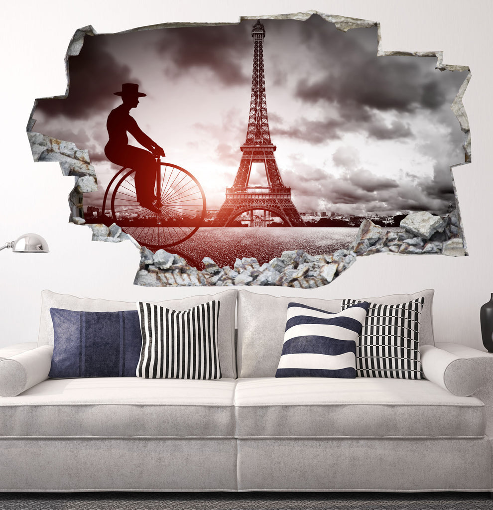 Eiffel Tower Decals | Eiffel Tower Wall Stickers | Vinyl 3d | CAB.182