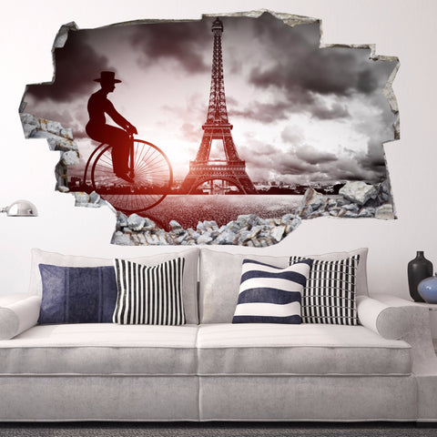 Eiffel Tower Wall Decals | Eiffel Tower Wall Stickers | Vinyl 3d | CAB.182