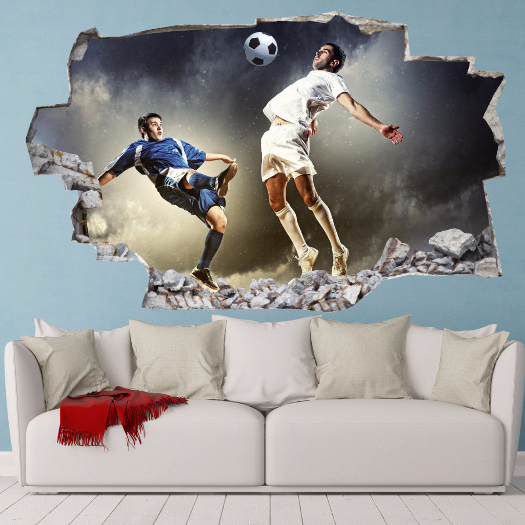 Football players Wall Stickers | 3D Wall Decals | CAB.189