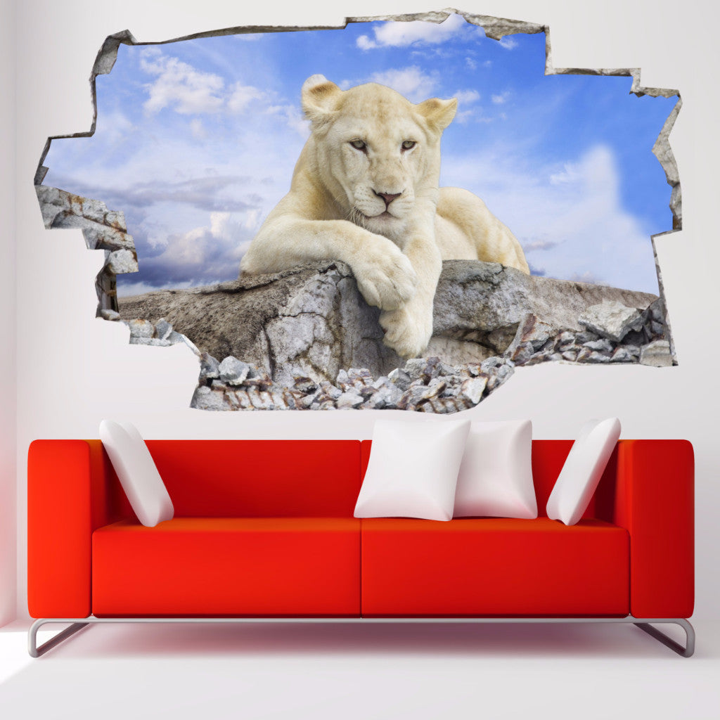 Lioness Wall Stickers | 3D Wall Decals | CAB.195