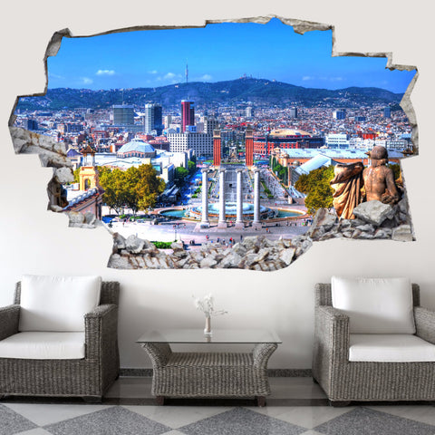 Barcelona Wall Stickers | 3D Wall Decals | CAB.200