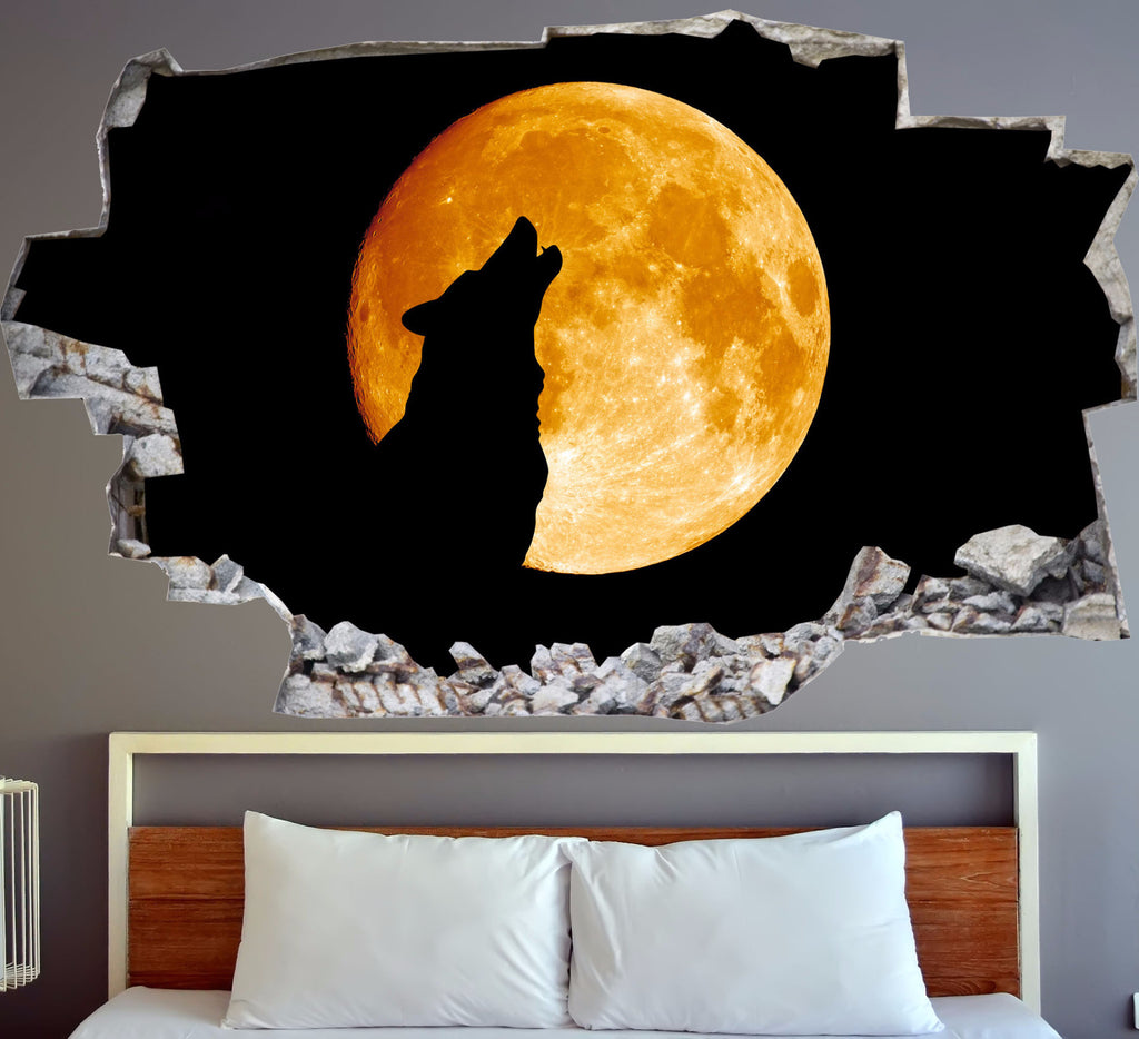Wolf Wall Decals | Wolf Wall Stickers | Vinyl 3d | CAB.210