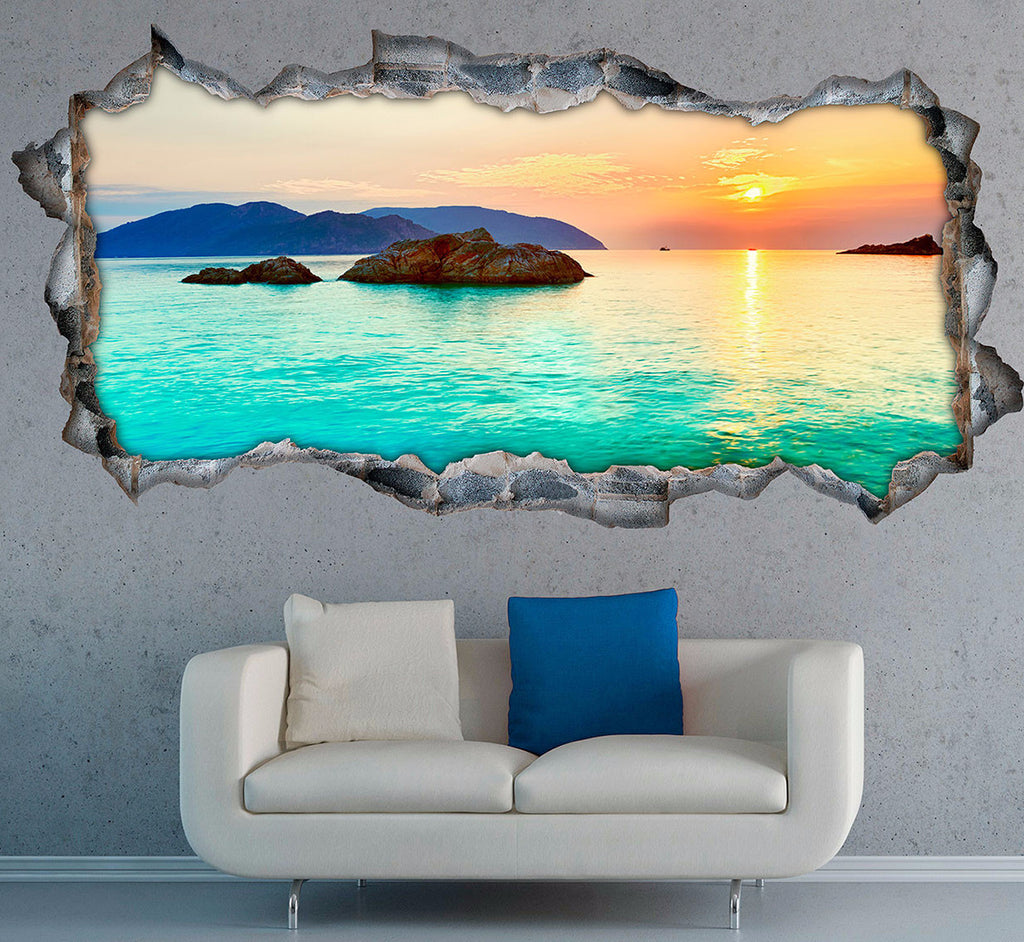 Sea Wall Stickers | 3D Wall Decals | CAB.212
