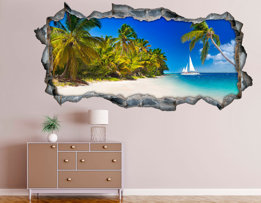 3D Bed HeadBoards Wall decal - Punta Cana
