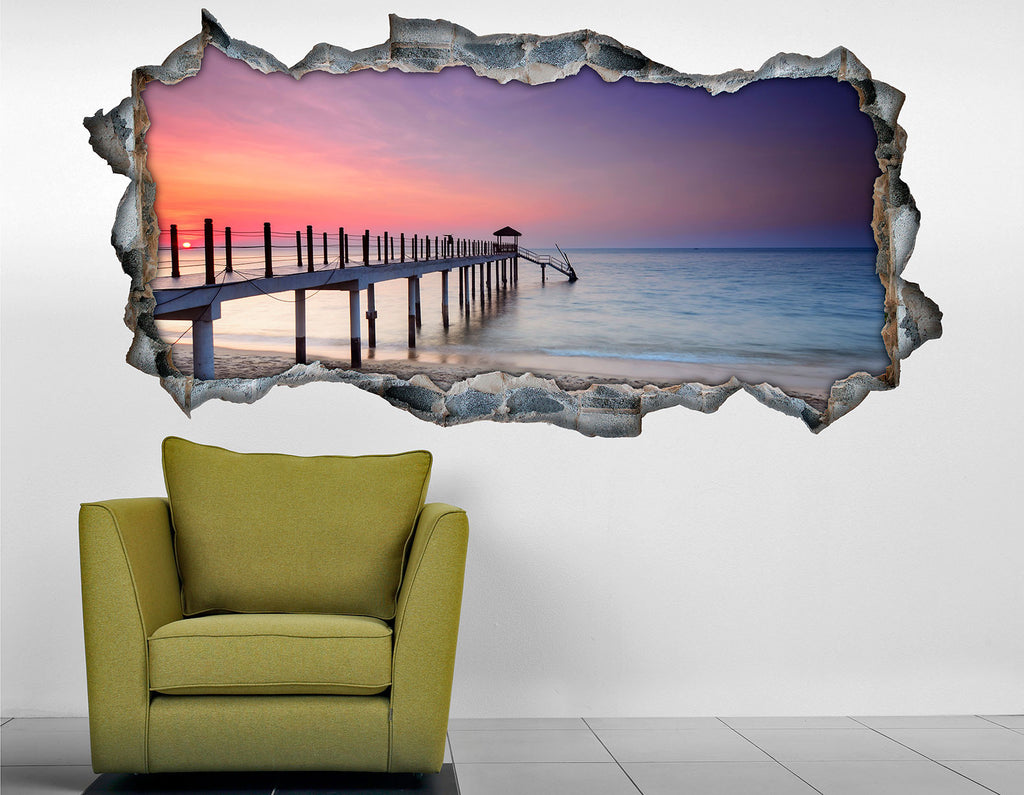 3D Bed HeadBoards Wall decal - Pier