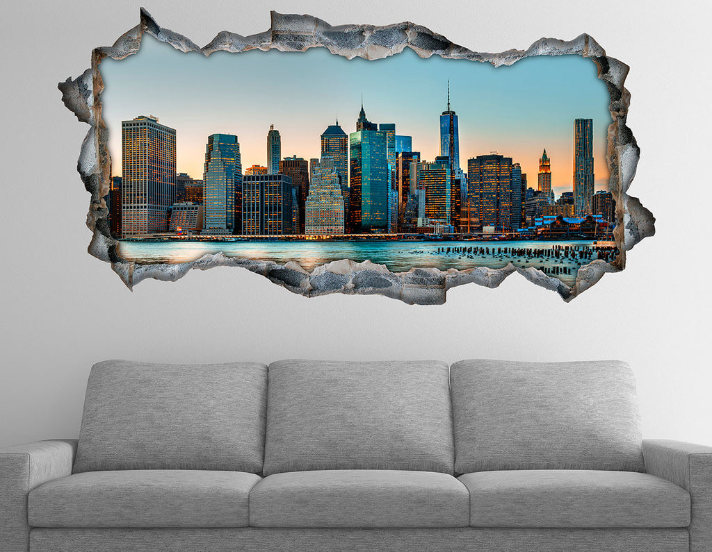 3D Bed HeadBoards Wall decal- Manhattan