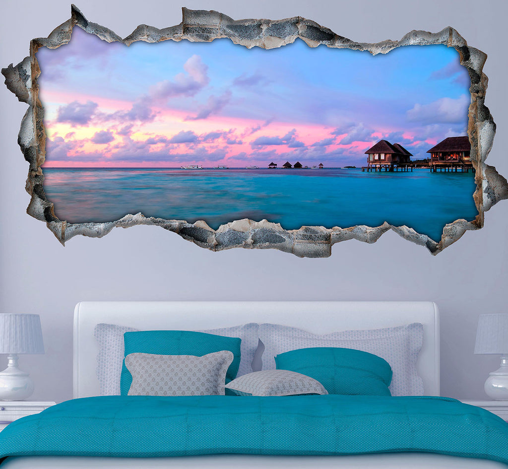 Sea Wall Stickers | 3D Wall Decals | CAB.229
