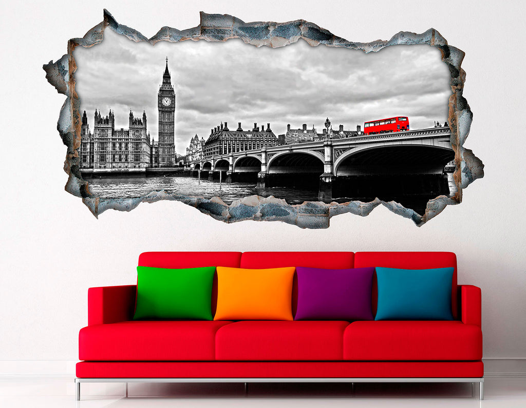 3D Bed HeadBoards Wall decal - London