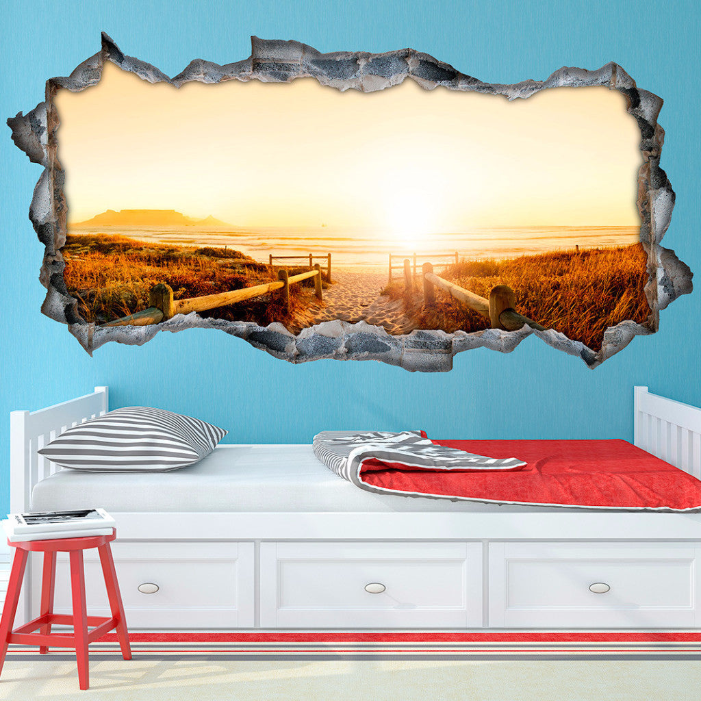 Beach wall decals beach wall stickers vinyl 3d cab239 beach wall decals beach wall stickers vinyl 3d amipublicfo Images