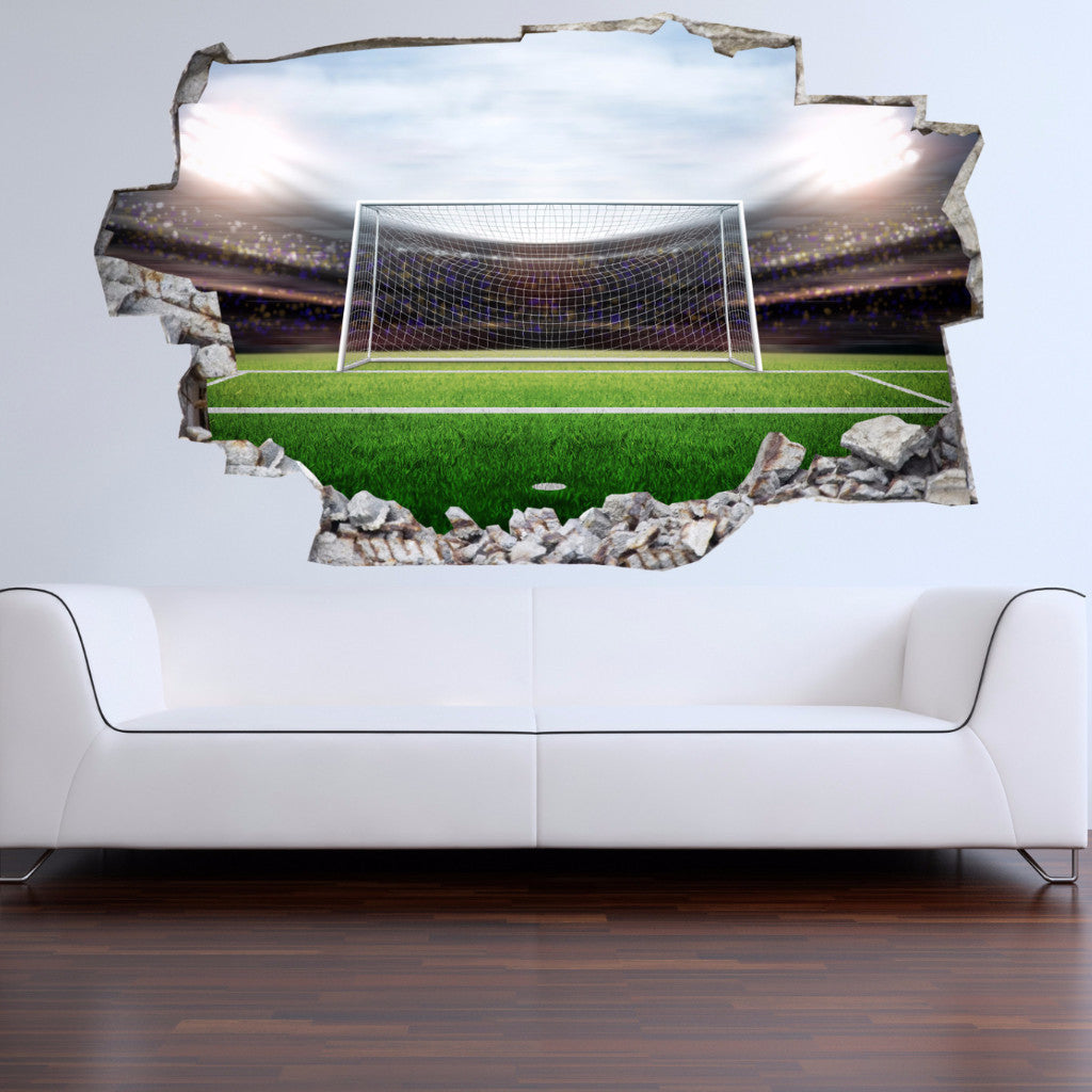 Soccer Goal Wall Decals | Scoccer Goal Stadium Wall Stickers | Vinyl 3d | CAB.244