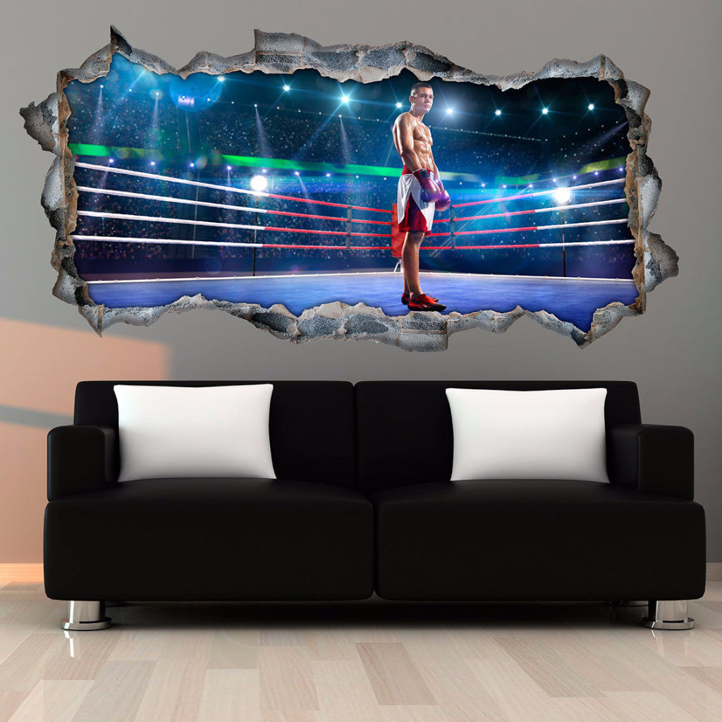 Boxing Wall Stickers | 3D Wall Decals | CAB.252