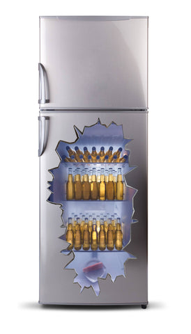 Adhesive fridge vinyl 3D - Beer