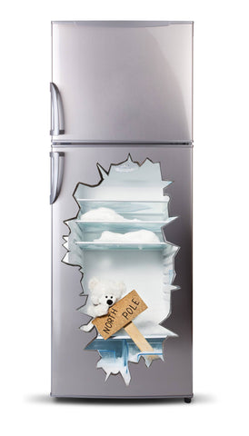 Adhesive fridge vinyl 3D - Bear