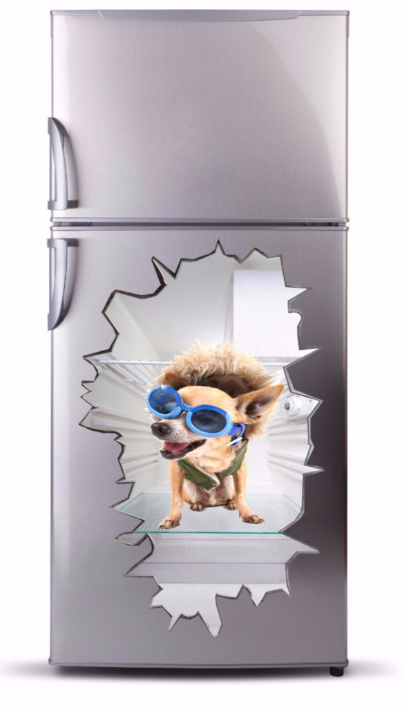 Adhesive fridge vinyl 3D - Dog