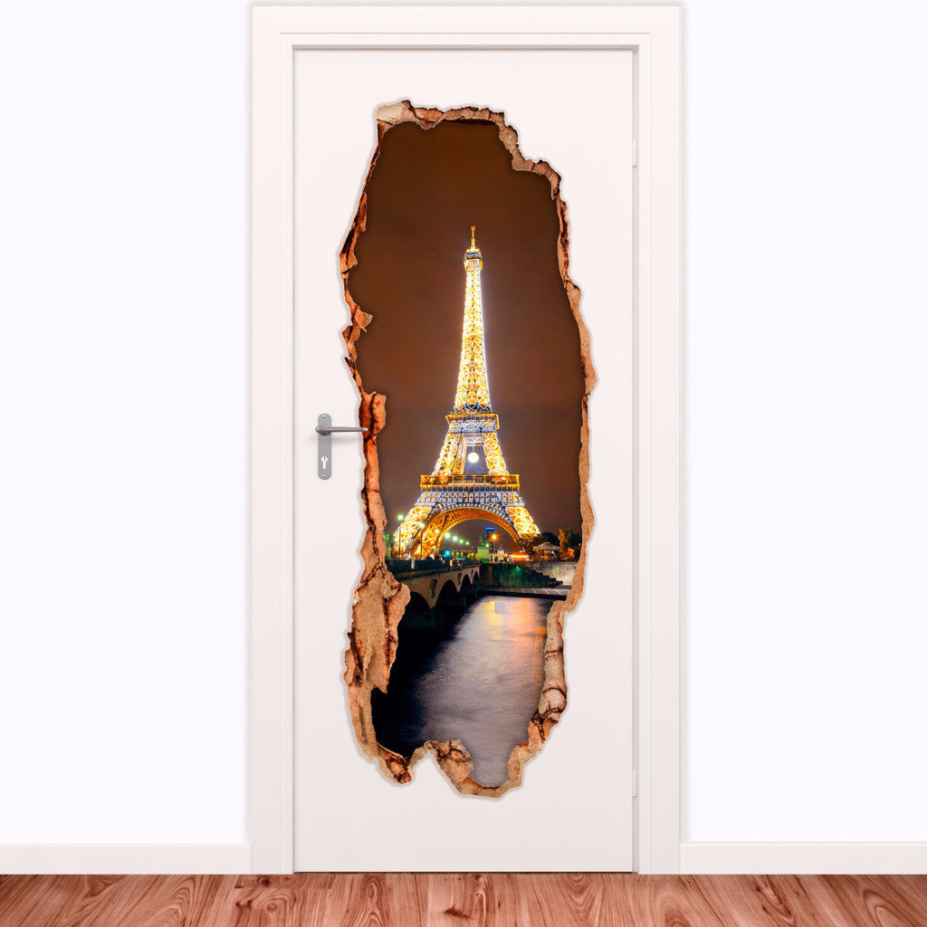 Decorative door vinyl - Eiffel Tower 4