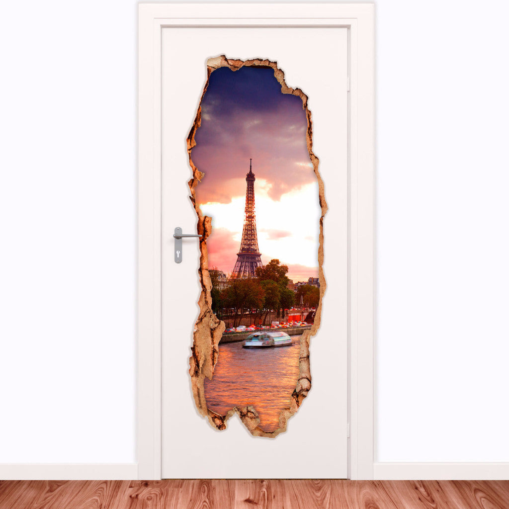 Decorative door vinyl - Eiffel Tower 5