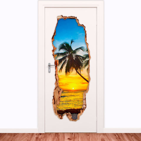 Decorative door vinyl - Barbados Island