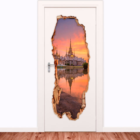 Decorative door vinyl - Buddhist Temple