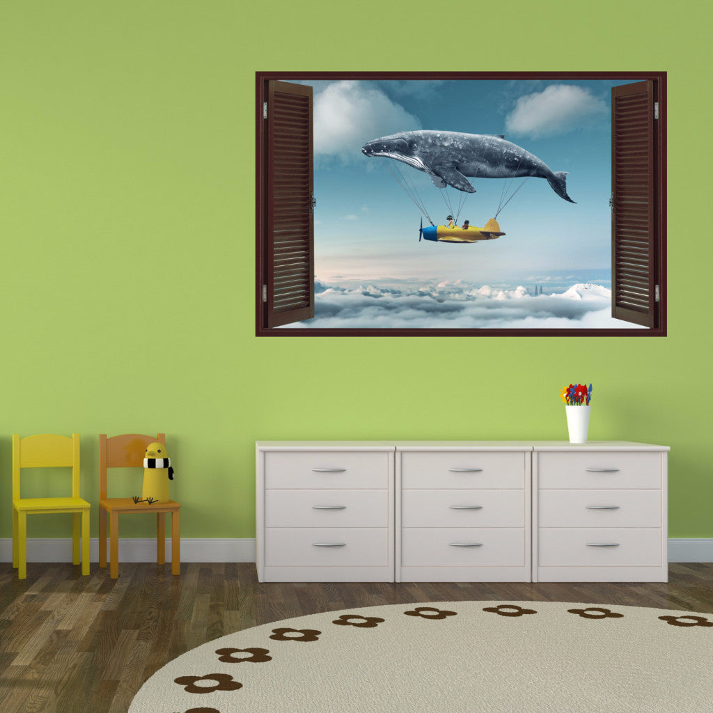 Whale Wall Decals | Decorative Vinyl | VNTII.124