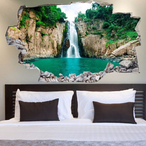 3D Bed Headboard Wall decal - Cascade