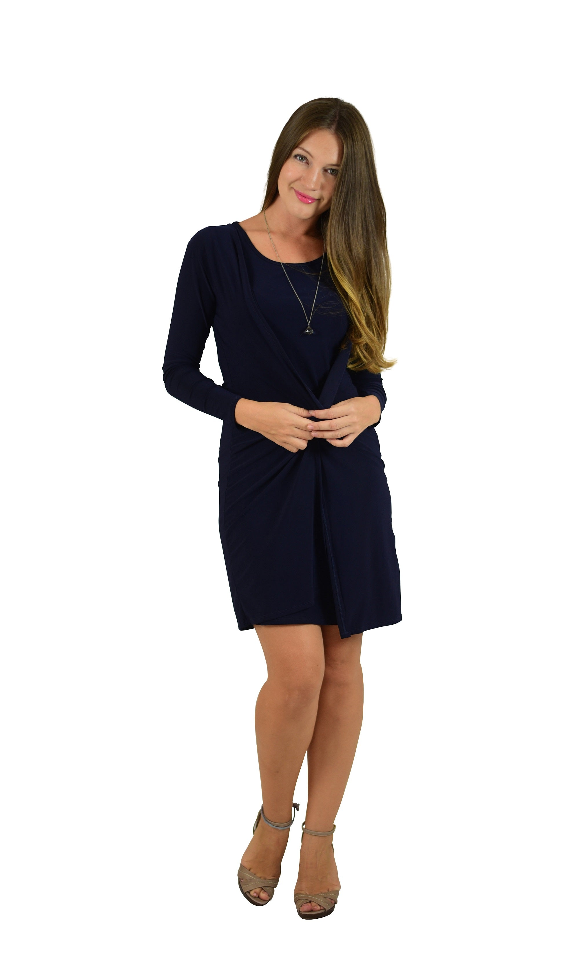 2 Piece Set with Shift Dress and Long Sleeve Cardigan