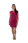 V-Neck Shift Dress, Pink