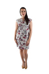 V-Neck Shift Dress, Pink Floral_Final Sale_Offer