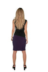 Knee length skirt, Purple