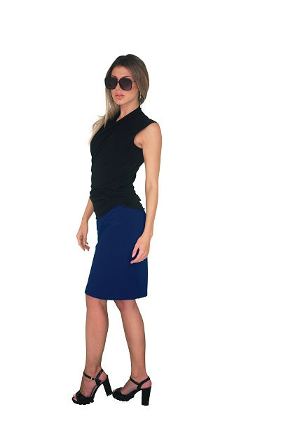 Knee length skirt, Navy