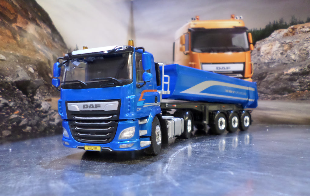 DAF CF Euro 6 Tipper Model Truck & Trailer 1:50 Scale
