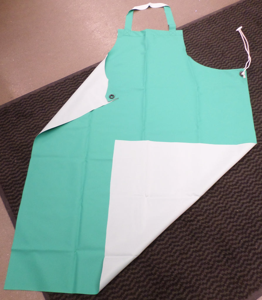 Jade green chemical apron
