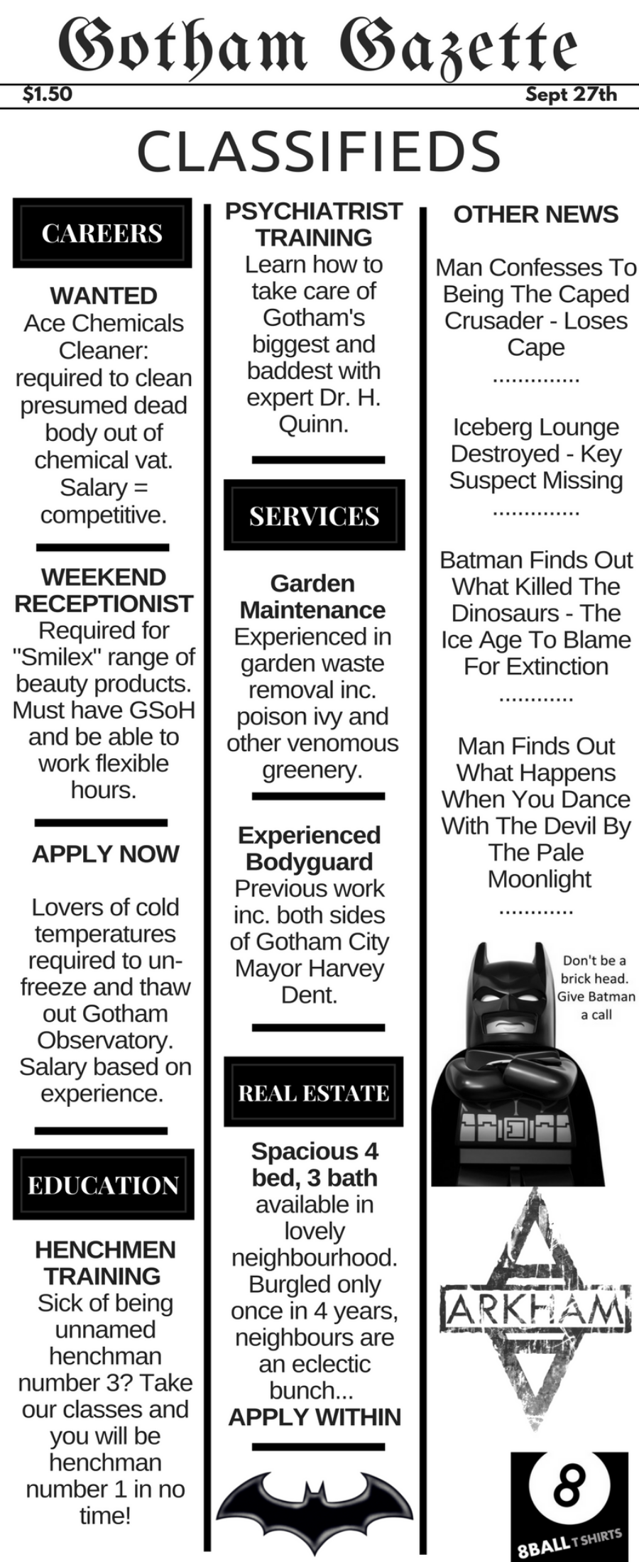 Gotham City Classifieds