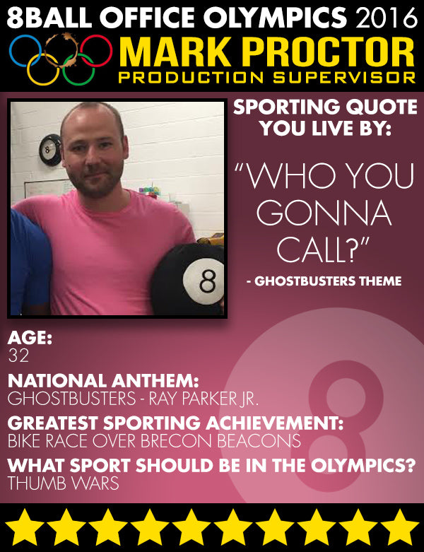 The 8ball Office Olympics: Meet the Competitors - Mark