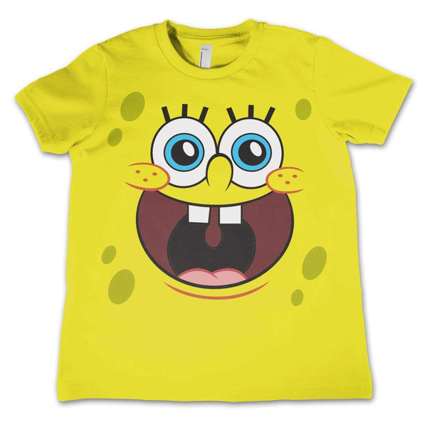 f278b1438 New Spongebob Squarepants kids t-shirt featuring Spongebob's famous face.