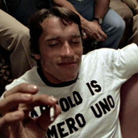 Customisable Numero Uno Ringer T Shirt - As Worn By Arnold Schwarzenegger