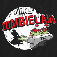 Alice In Wonderland Inspired Women's T Shirt - Alice In Zombieland - 8Ball