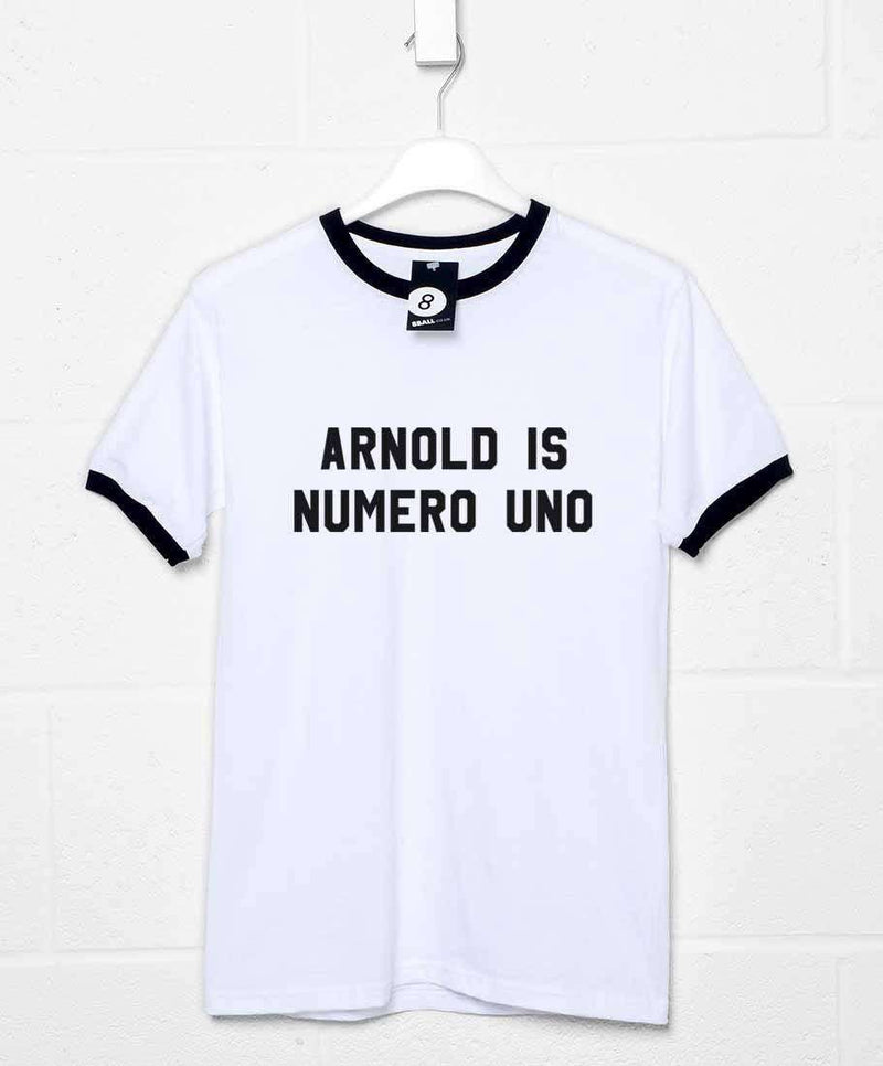 as worn by arnold schwarzenegger t shirt numero uno 8ball